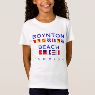 Boynton Beach, FL - Nautical Flag Spelling T-Shirt
