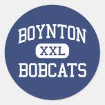 Boynton Bobcats Middle Ithaca New York Round Stickers