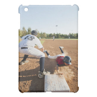 Boys (10-11) playing baseball iPad mini case