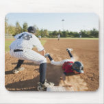 Boys (10-11) playing baseball mouse mat