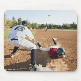 Boys (10-11) playing baseball mouse mat