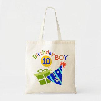 Boys 10th Birthday Tote Bag