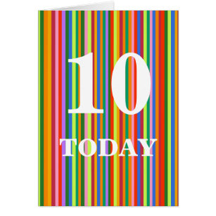 10 today birthday cards invitations zazzle boys 10th birthday card bookmarktalkfo Gallery