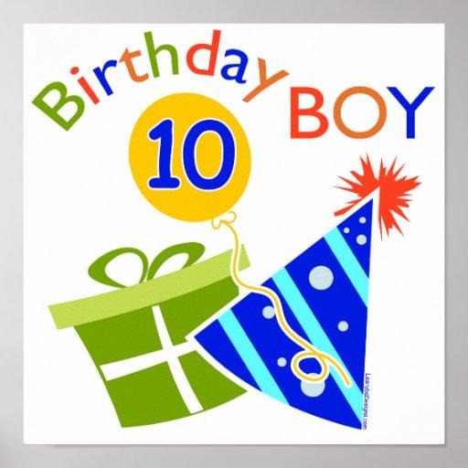 Boys 10th Birthday Poster