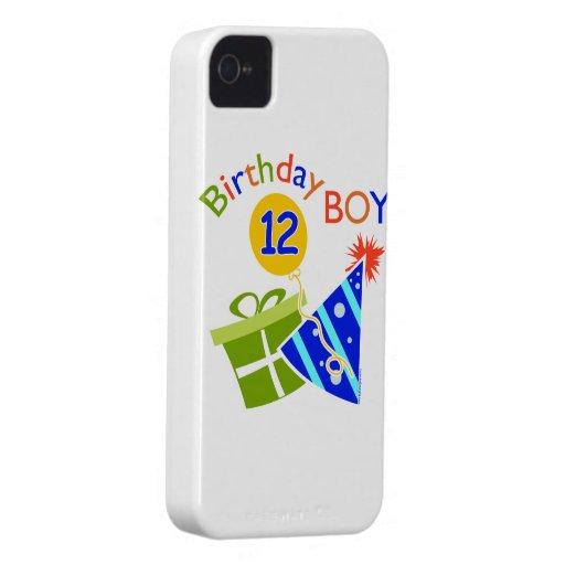 Boys 12th Birthday iPhone 4 Case-Mate Case