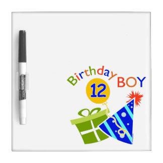 Boys 12th Birthday Dry-Erase Board