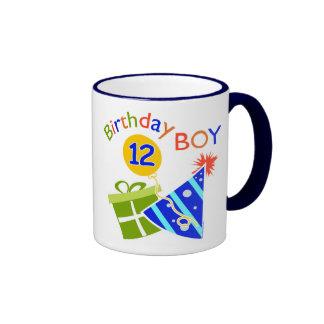 Boys 12th Birthday Mugs