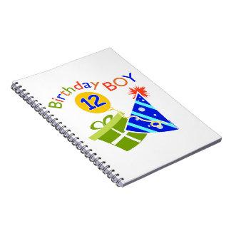 Boys 12th Birthday Spiral Notebook