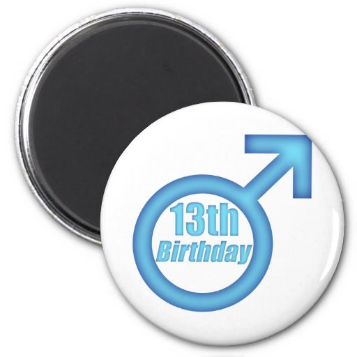 Boys 13th Birthday Gifts Magnets