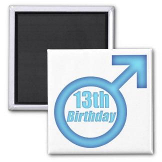 Boys 13th Birthday Gifts Refrigerator Magnet