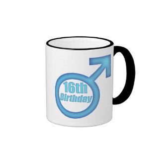 Boys 16th Birthday Gifts Ringer Mug
