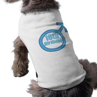 Boys 16th Birthday Gifts Sleeveless Dog Shirt