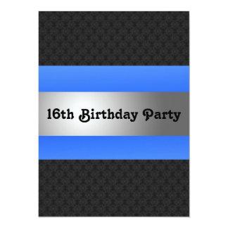 Boy's 16th Birthday Party Invite