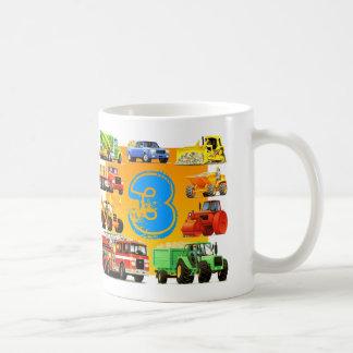 Boys 3rd Birthday Custom Construction Truck Basic White Mug