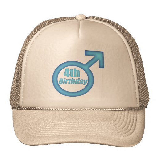 Boys 4th Birthday Gifts Trucker Hats