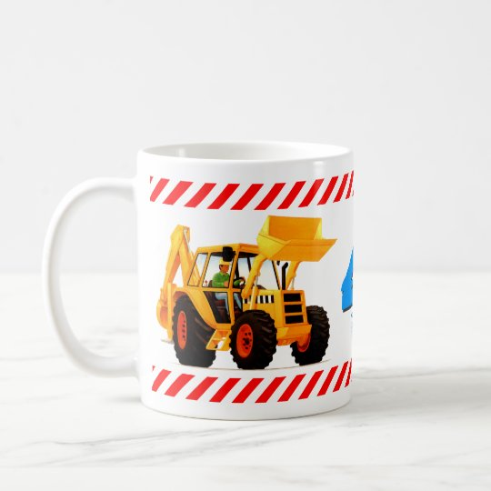 Boy's 4th Birthday Yellow Digger Coffee Mug