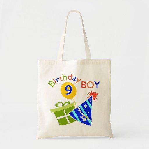 Boys 9th Birthday Canvas Bag