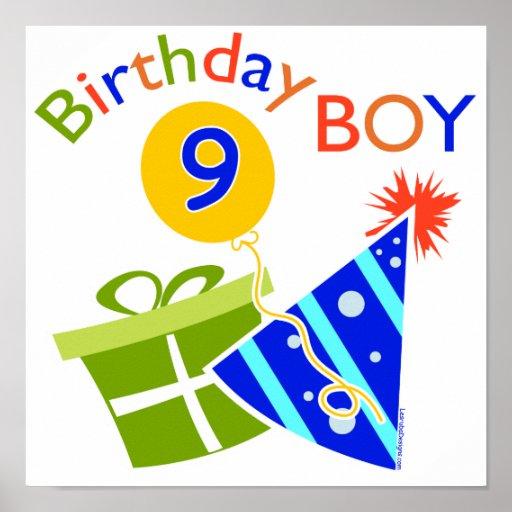 Boys 9th Birthday Print
