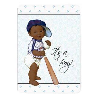 Boys African American Baby Shower 13 Cm X 18 Cm Invitation Card