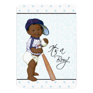 Boys African American Baby Shower Card