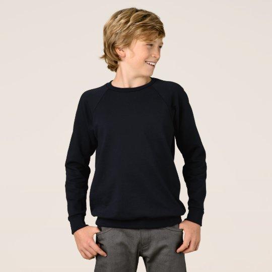 Kids' American Apparel Raglan Sweatshirt, Black