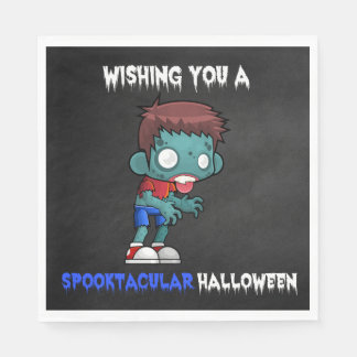 Boys and Ghouls Boy Zombie Spooktacular Halloween Disposable Napkin