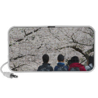 Boys and girls under cherry blossoms 2 notebook speakers