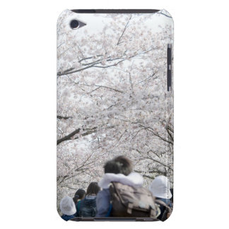 Boys and girls under cherry blossoms barely there iPod case