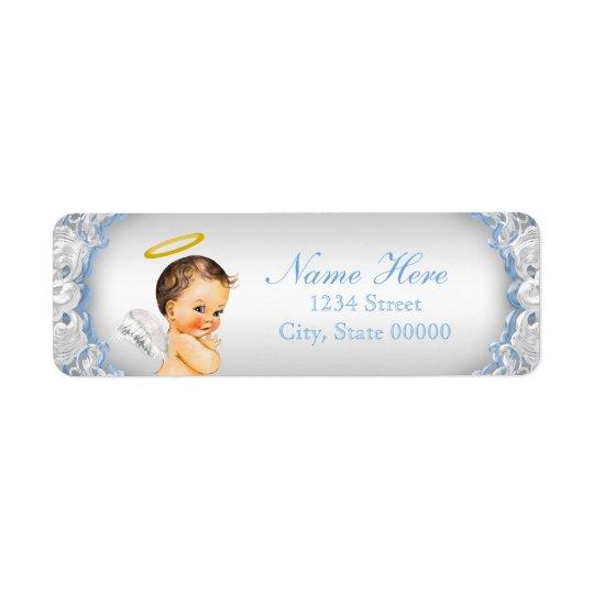 Boys Angel Baptism Christening Return Address Label