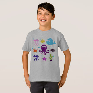 BOYS ARTISTIC TSHIRT WITH MARE CREATURES