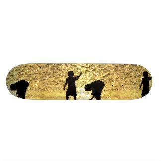 Boys at Dusk Skateboard