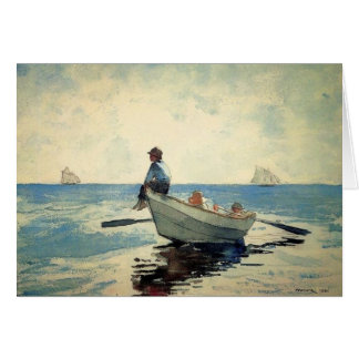 Boys at Sea in a Dory Greeting Card