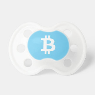 Boy's Baby Blue Bitcoin Pacifier