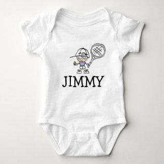 Boys baby bodysuit with cute tennis cartoon