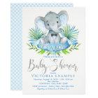 Boys Baby Elephant Baby Shower Invitations
