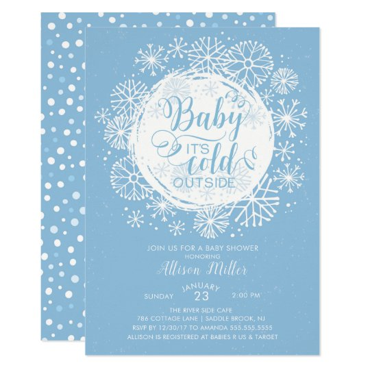 Boys Baby It's Cold Outside Invitation