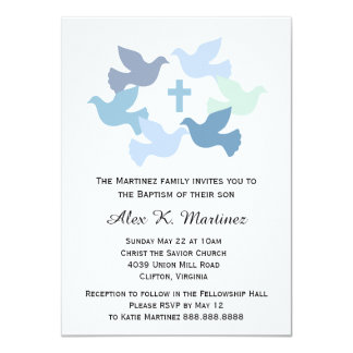 Boys' Baptism Baby Dedication First Holy Communion Card