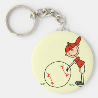 Boys Baseball Customize Tshirts and Gifts Basic Round Button Key Ring