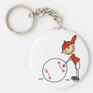 Boys Baseball Customize Tshirts and Gifts Keychain