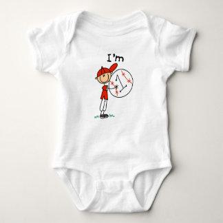 Boy's Baseball I'm 1 Baby Bodysuit