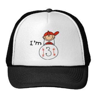 Boy's Baseball I'm 3 Trucker Hats
