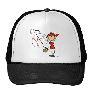 Boy's Baseball I'm 4 Mesh Hat