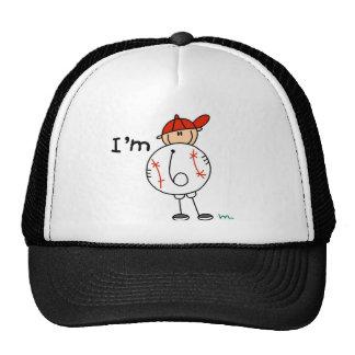 Boy's Baseball I'm 6 Mesh Hat