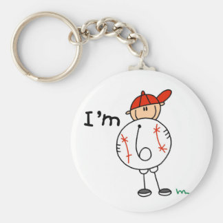 Boy's Baseball I'm 6 Tshirts and Gifts Key Chain