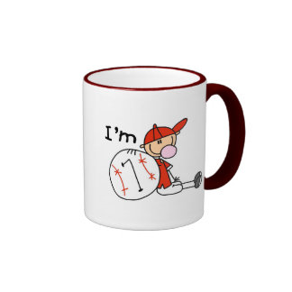 Boy's Baseball I'm 7 Coffee Mugs