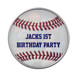 Boy's Baseball Personalized Party Favor Jelly Belly Candy Tins