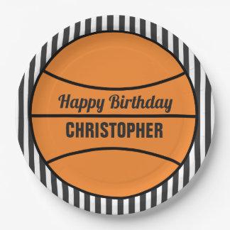 Boys Basketball Birthday Paper Plate