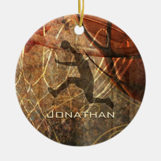 boys basketball grunge sports christmas ornament