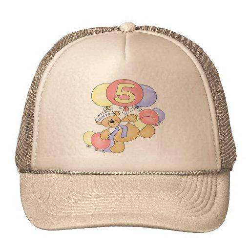 Boys Bear 5th Birthday Gifts Hat