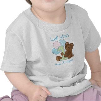 Boys Bear Look Who s 1 Birthday Tshirt